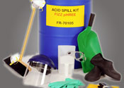 Neutralize and adsorb hazardous electrolyte spills